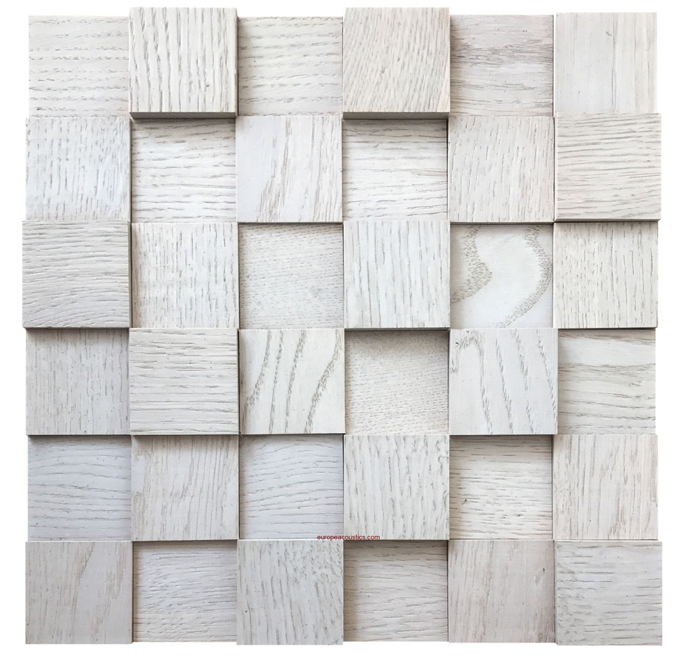 2d cube white wood panel